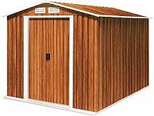 Tepro Gartenhaus / Metallgerätehaus Riverton 6x8 Holzoptik