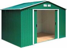 Tepro Gartenhaus / Metallgerätehaus Titan 8x10 grün
