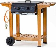 Tepro Gasgrill - Grillwagen mit Holzgestell