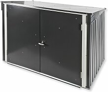 Tepro Metall Mülltonnenbox Gartenbox Müllbox