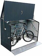 Tepro Outdoor Fahrradbox in anthrazit Terrasse