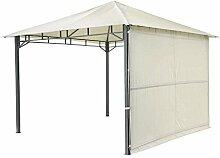 Tepro Pavillon Hellgrau LEHUA 330x330x285 cm Garten Camping Terrasse 5509