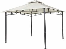 Tepro Pavillon Hellgrau WAYA 330x330x290 cm Garten Camping Terrasse 5527