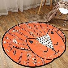 TEPXL Teppich Fußmatten Matten Rush Cartoon Round
