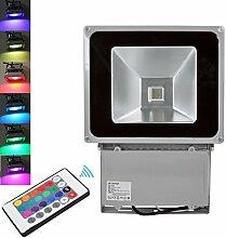 TEquem 100W RGB LED Flutlicht mit Fernbedienung 16