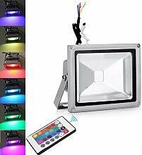 TEquem 20W RGB LED Flutlicht mit Fernbedienung 16