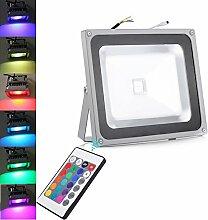 TEquem 50W RGB LED Flutlicht mit Fernbedienung 16