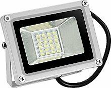 TEquem LED 12V DC Kaltweiß 20W LED Außenstrahler