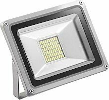 TEquem LED 12V DC Kaltweiß 30W LED Außenstrahler