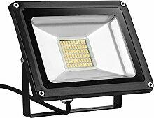TEquem LED 12V DC Warmlicht 30W LED Außenstrahler