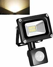 TEquem Warmweiß 10 Watt LED SMD Flutlicht
