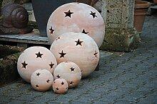 Terracottakugel,Sternkugel,Windlicht,sehr hübsch, riesige 40cm Durchmesser