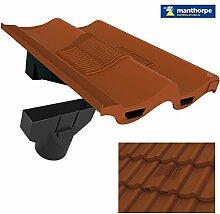 Terrakotta Doppel Flachdachziegel Dach Fliese Vent & Adapter / Marley Redland Sandtof