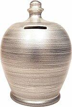 Terramundi Spardose Metallic Silber–A83