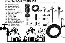 TERRASSA - Bewässerung für 40 - 60 Pflanzen im