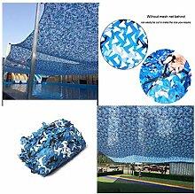 Terrasse Schatten Dekoration Tarnnetz Blau, 3x5m