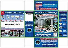 Terrasse Zerstäuberfunktion Farbsystem Niederdruck–UV-behandelt Flexible Tubing–Messing/Edelstahl–für Terrasse, Pavillon, Pool und Spielflächen GMC536 beige