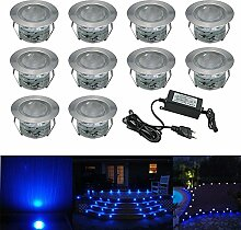 Terrassen Einbaustrahler - 10er Set Treppen LED