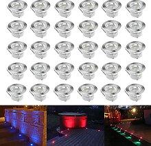 Terrassen Einbaustrahler - CHNXU 30er Set Boden