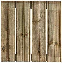 Terrassen-Fliesen Holzfliesen für den Balkon und