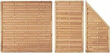 Terrassenabtrennung Holzzaun Dichtzaun London B400 x H180 cm - Komplett-Se