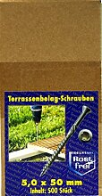 Terrassenschrauben Tordrive 5,0x50mm 500Stk.