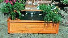 Terrassenteich 150x150cm 4 Pflanzzonen Hochteich Teich