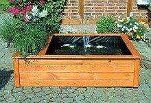 Terrassenteich 154x124cm 1 Pflanzzone Hochteich Solarpumpe Teich