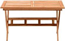 Terrassentisch aus Teak Massivholz klappbar