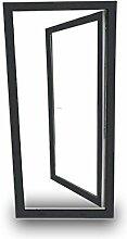 Terrassentür Balkontür - 80x210 cm - DIN Links - 2-fach-Verglasung - Classic Line - anthrazit - 60 mm