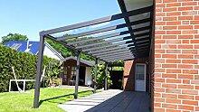 Terrassenüberdachung Aluminium 606x355 cm inkl.
