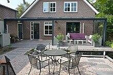 Terrassenüberdachung mit Glas Überdachung 600x250 Premiumline