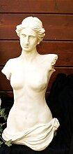 Terrex Büste antik Frau Torso Skulptur Gartendeko
