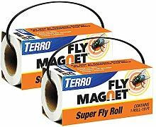 Terro Super Fly Roll Magnet Fliegenfalle 2 Pack