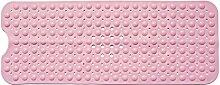 Teruixing Anti-Rutsch Badewannenmatten PVC Non Slip Badewanne Matten Massage AntiBakterielle Bad Duschmatte 40 x 100 cm - Weich, rosa