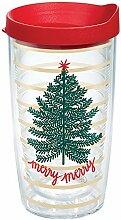 """Tervis 1330930 """"Merry Tree""""-Becher mit Deckel,"""