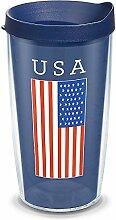 Tervis Isolierter Becher mit USA-Flagge, 473 ml,