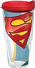 Tervis Superman – Logo Becher mit Wickel und