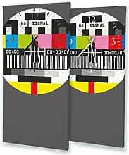 Testbild - Lautlose Wanduhr mit Fotodruck auf Leinwand Keilrahmen | geräuschlos kein Ticken Fotouhr Bilderuhr Motivuhr Küchenuhr modern hochwertig Quarz | Variante:30 cm x 60 cm mit schwarzen Zeigern - GERÄUSCHLOS