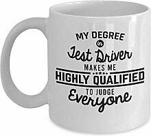 Testfahrer Kaffee-Haferl Geschenk für Fahrer