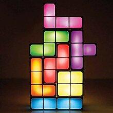 Tetris Lampe, stapelbare LED Tischlampe