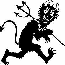 Teufel Aufkleber 001, 50 cm, schwarz