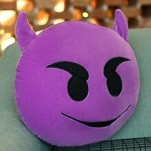 Teufelchen Emoji Kissen,Smiley,Wurfkissen,Emojikissen