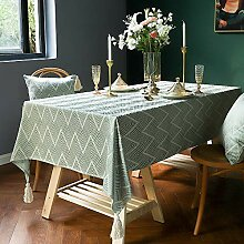 TEWENE Tischdecke, elegantes Wellenmuster, moderne