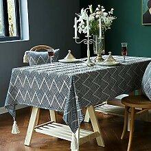 TEWENE Tischdecke, Premium-Wellenmuster, moderne