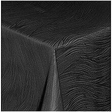 TEXMAXX Damast Tischdecke Maßanfertigung im Fantasia-Design in schwarz 140x140 cm eckig, weitere Längen und Farben wählbar