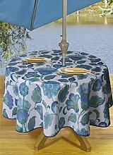 TexStyles Runde Tischdecken Outdoor Tischdecke mit