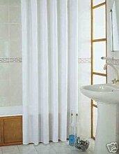 Textil Duschvorhang Weiss Überlänge 215x200cm ~