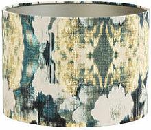 Textil-Lampenschirm mit Blumenmotiv zum Kombinieren