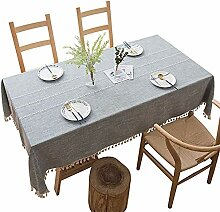 Textil Tischdecke Leinen-Optik,Anti-rutsch